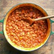 Ele's slow baked-beans with maple syrup