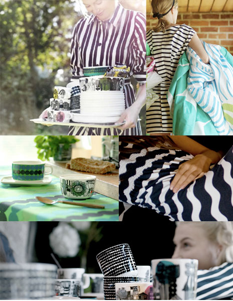 Dots and stripes in hues of aqua, navy and black…