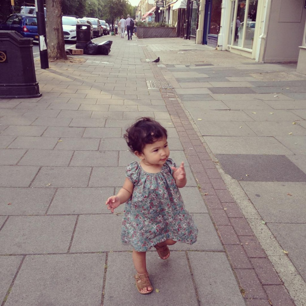 First outing walking down the road on her own today!hellip