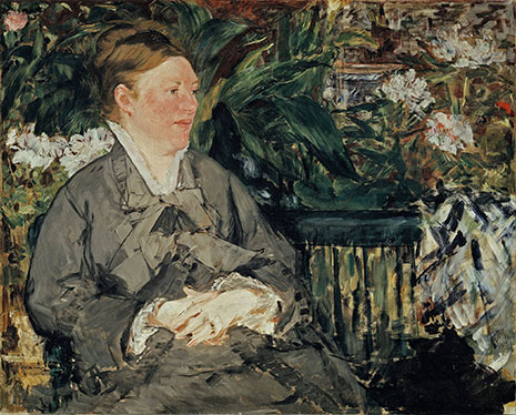 Édouard Manet Mme Manet in the Conservatory, 1879 Oil on canvas 81 x 100 cm The National Museum of Art, Architecture and Design, Oslo Photo Børre Høstland