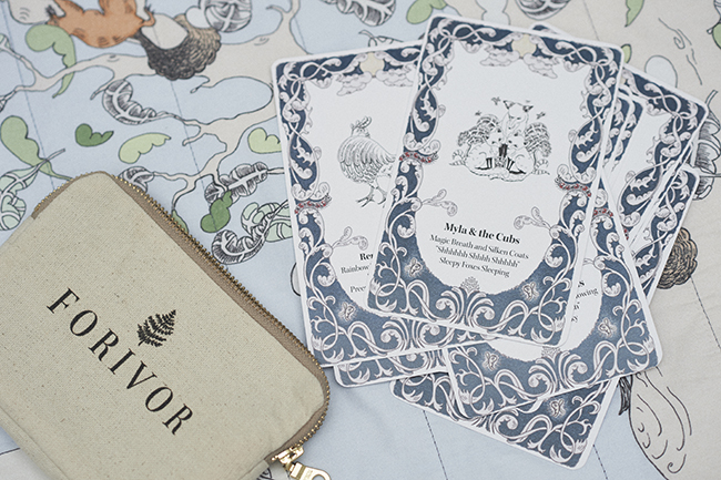 Forivor's innovative concept that uses storytelling cards to inspire magical sleep