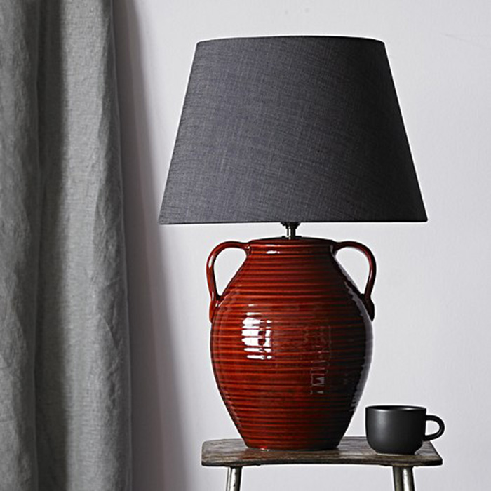 Calypso oxblood table lamp £90 pooky