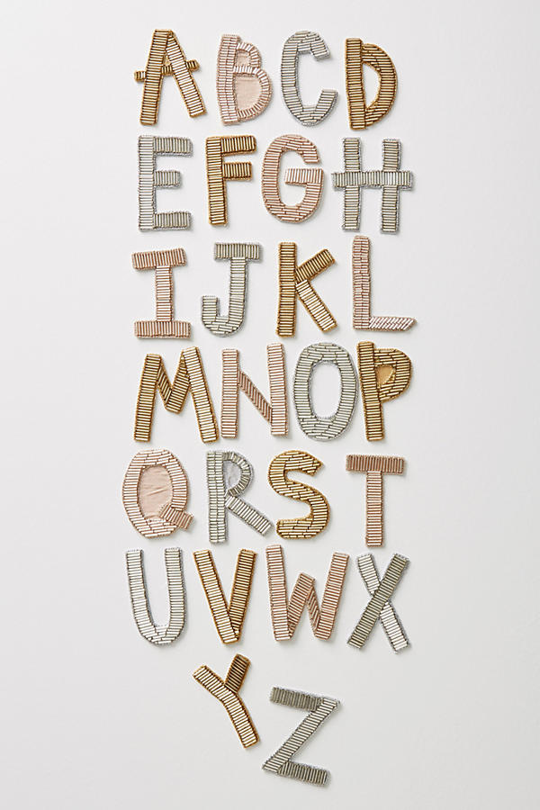 30 Gifts Under £15 Metallic Monogram Sticker Patch, Anthropologie