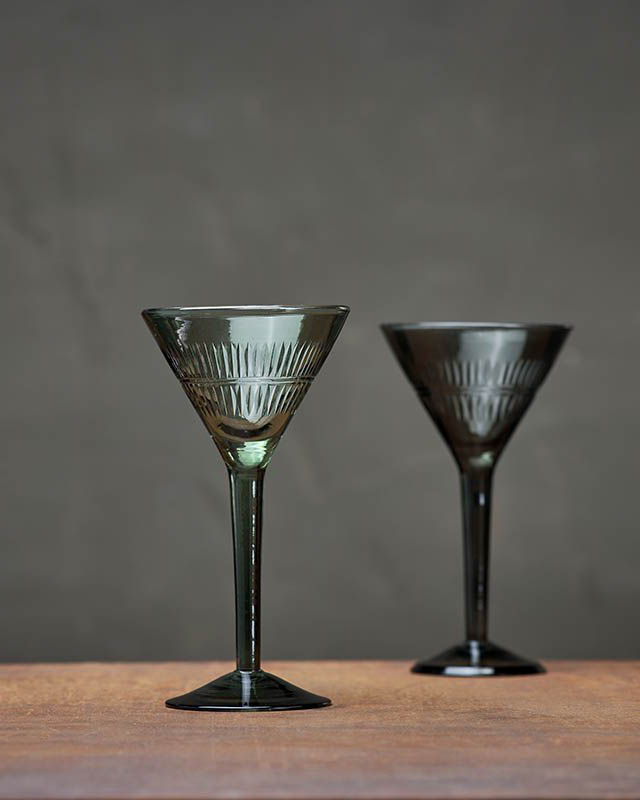 Mila Dark Emerald Cocktail Glass Nkuku £39.95