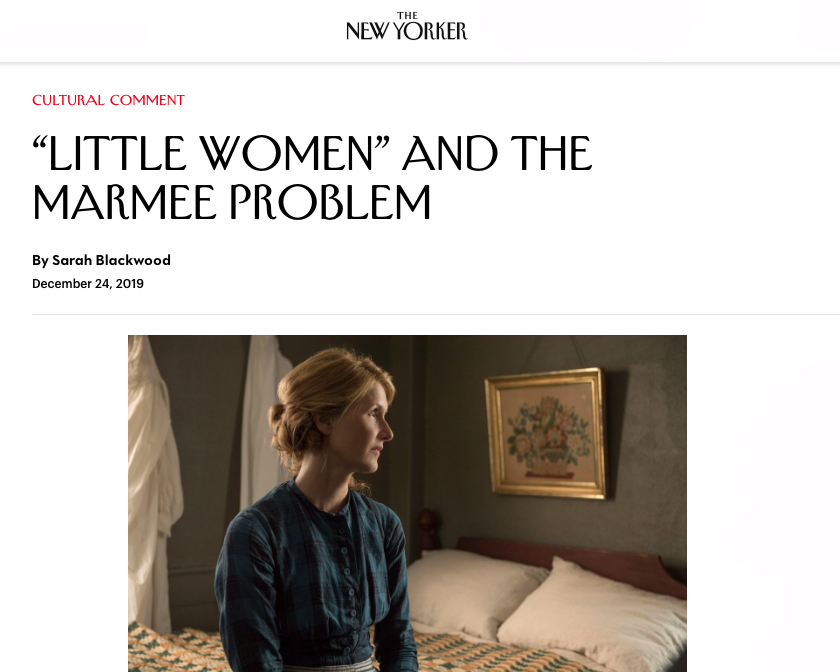 The New Yorker, Little Women and the Marmee Problem
